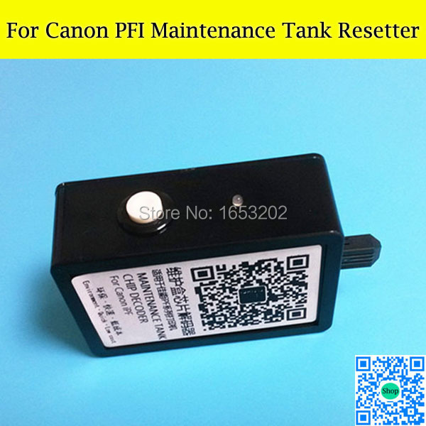 Maintenance/Waste Ink Tank Chip Resetter For Canon iPF8000/8110/8010s/650/655/5000/5100/510/6300 free shipping good price mc 05 maintenance box resetter for canon ipf500 waste ink tank