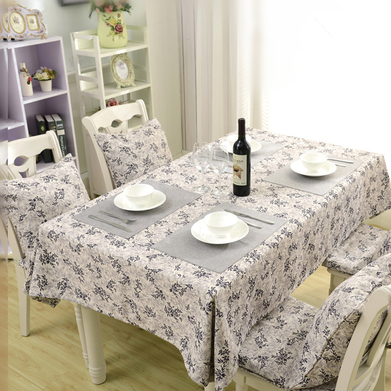 Europe Style Table Cloth Pastoral Tea Table Tablecloth Home Round/Square Table Tablecloth Double sided Use Tablecloth