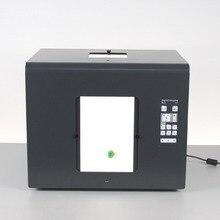 Frete grátis sanoto marca led mini photo studio fotografia caixa de luz foto softbox b350 jóias, diamantes caixas iluminação