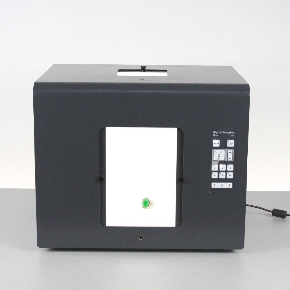 Trasporto libero sanoto marca led mini photo studio box light photography photo box softbox b350 gioielli, diamanti scatole di illuminazione