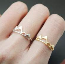 Jisensp nowa moda regulowany pierścień otwarte pierścienie górskie dla kobiet prezent urodzinowy urok biżuteria palec fala pierścienie Anillos Bague