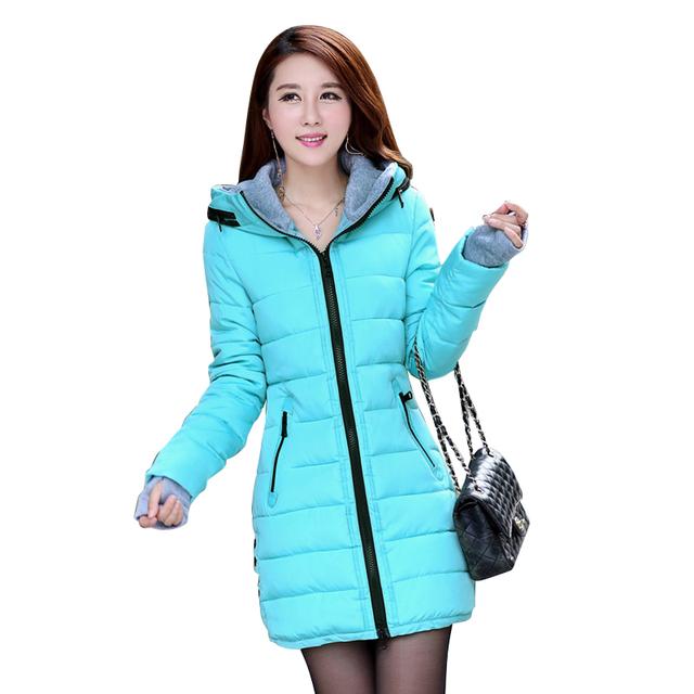 2017 Wadded Jacket Female New Women's Winter Jacket Cotton Jacket Slim Parkas Ladies Coat Plus Size M-XXXL  CC276