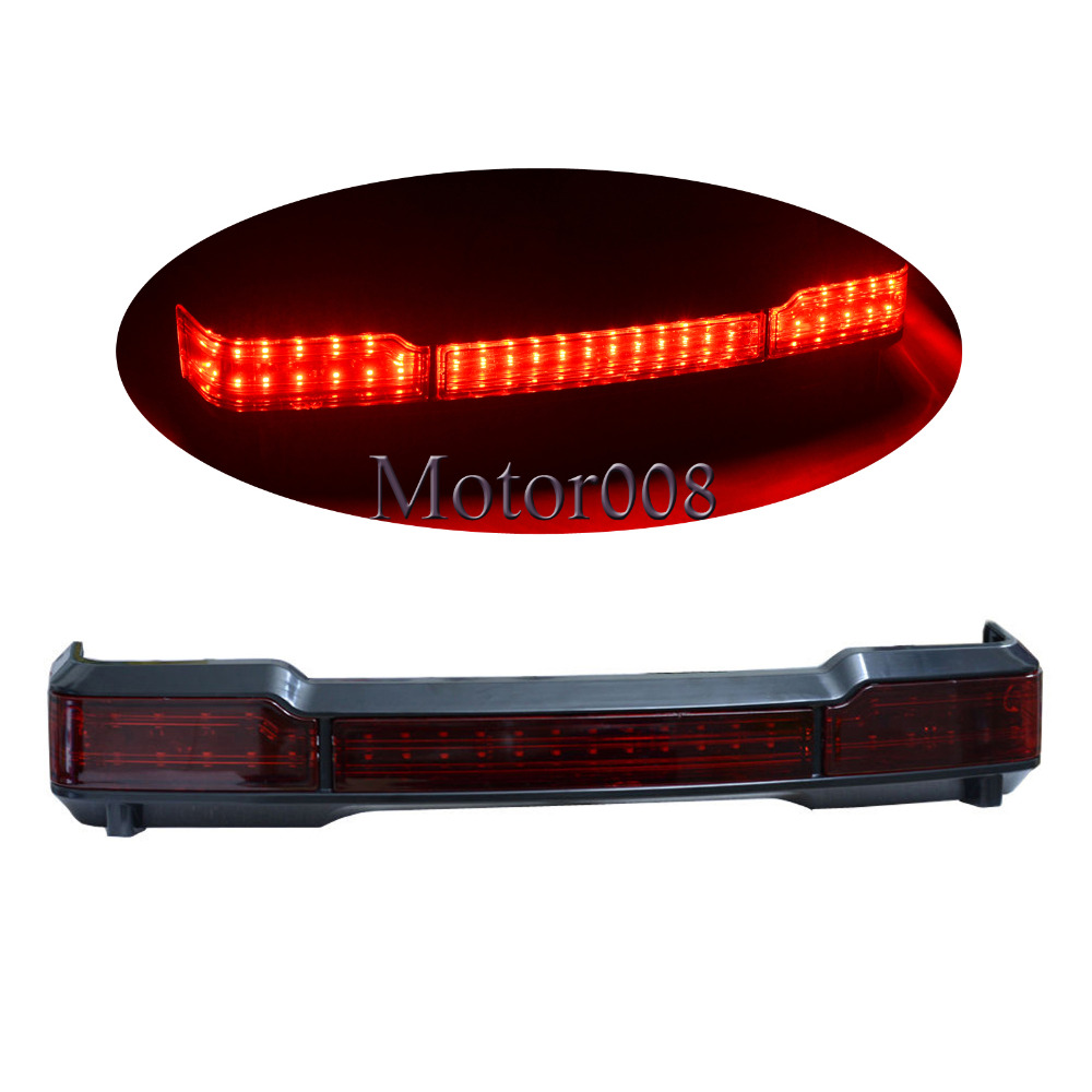 Black LED Tail Brake Light Accent for Harley Touring Trunk King Tour Pack Wrap