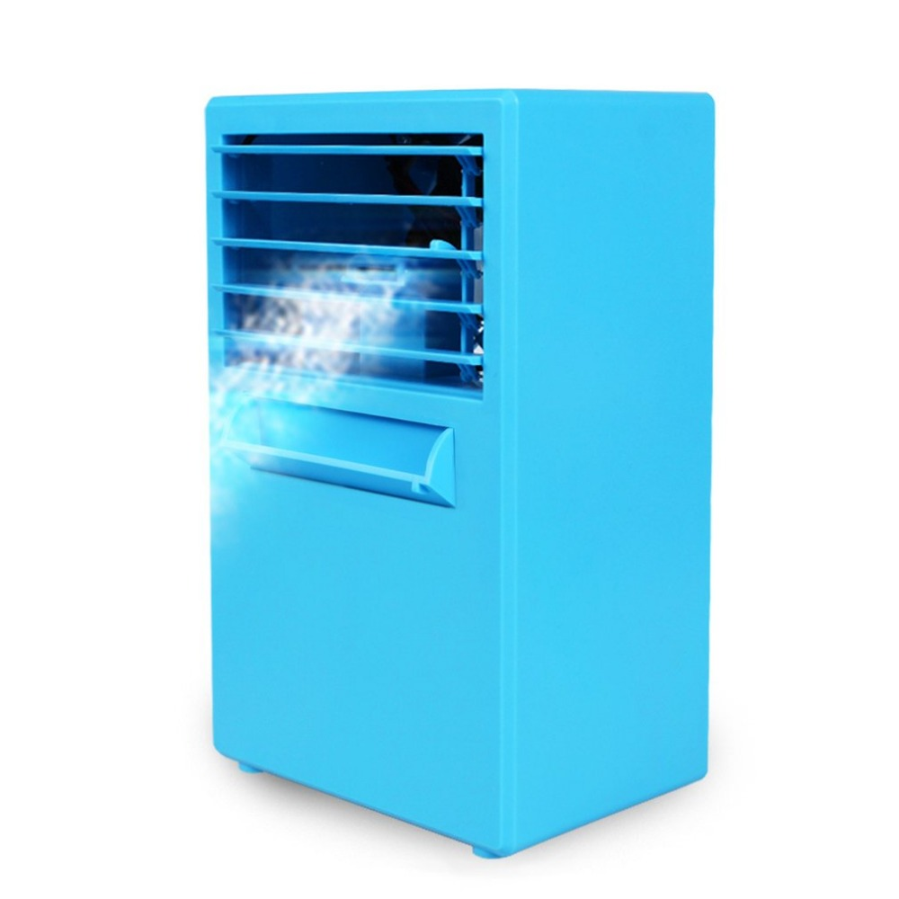 цена на Practical Design Compact Size Personal Use Air Conditioner Air Cooler Fan Home Office Desk Cooler Cooling Bladeless Fan
