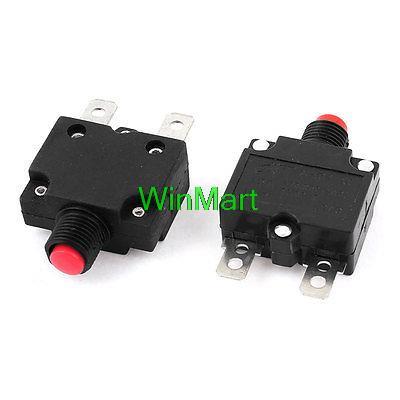 5 adet AC125/250 V 15A Itme Sıfırlama Düğmesi devre kesici termal aşırı yükleme koruyucusu