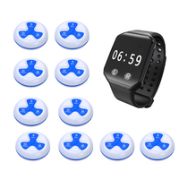 Call Vibrating Watch Charge Cheap Easy Operate System 10pcs Call Bell Wrist Remote Wireless Restaurant Waiter Sound Pager Watch