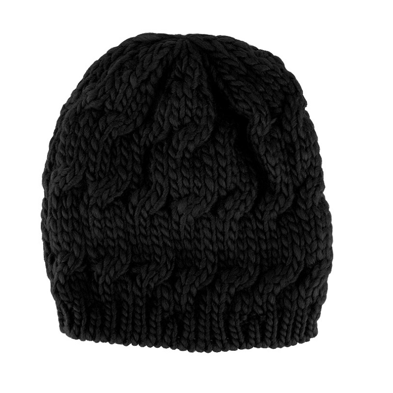 1 Pcs Fashion Girls Knitted Baggy Hat Crochet Braided Skull Cap Kids Ski  Beanie Autumn Winter Warm Hat For Girls women cap adbf8423fa46