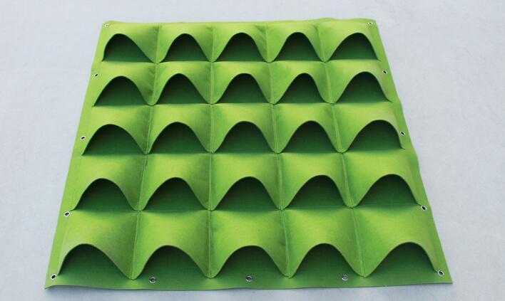 100*100 cm 36 poches tenture murale sac de plantation plante en trois dimensions plante verte mur balcon sac de plantation pot de fleurs stéréo