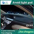 Evitar a luz Instrumento pad cover secretária plataforma Mats Tapetes Auto acessórios para Peugeo 301 408 2008 207 307 308 408 508 3008