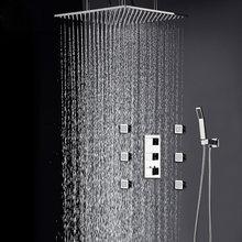 Смеситель для душа из нержавеющей стали 304 квадратный дождевой