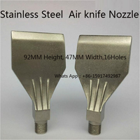 "1/4"" 47MM wide 16Holes  Stainless Steel  wind jet air nozzle air washer spray nozzle air blowing wind nozzles  air knife nozzle