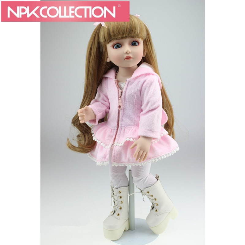 New American Girl Doll Fashion Reborn Doll Beautiful SD/BJD Dolls 18 inch Top Quality Handmade Doll For Children N202-3 hot newest 18 inch handmade vinyl doll bjd doll with dress beautiful princess doll toy for children christmas gift