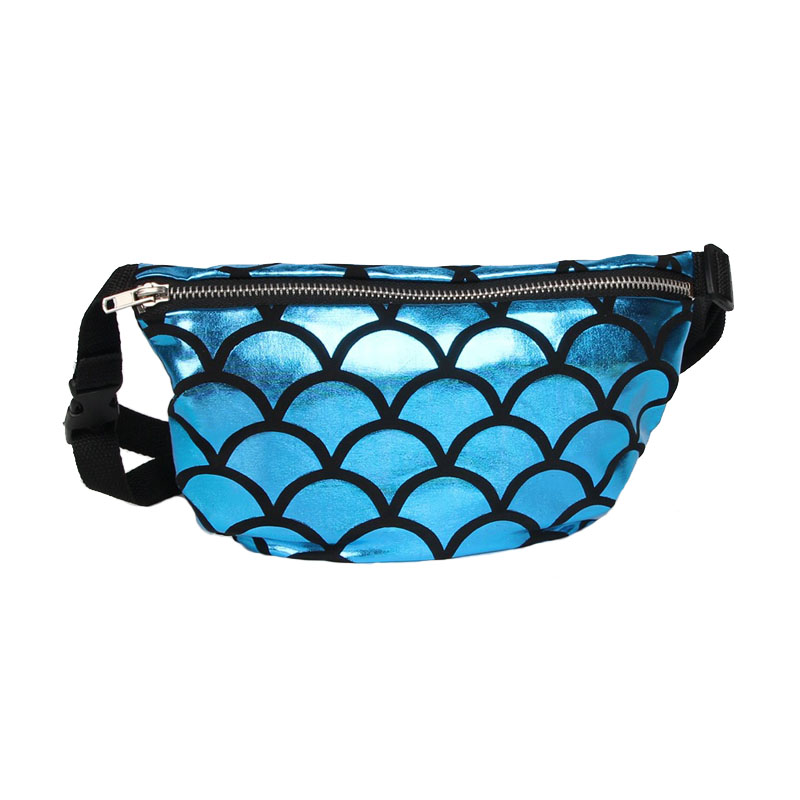 Fashion Occident Fish Scales Waist Pack Portable Ladies Messenger Bag Money Mobile Phone Storage Multifunctional Accessories