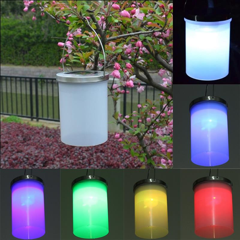 Aliexpress.com : Buy Waterproof Solar Power Hanging Cylinder Lanterns LED  Landscape Path Yard Garden Outdoor Patio Holidays Decoration Light Lamp  From ...