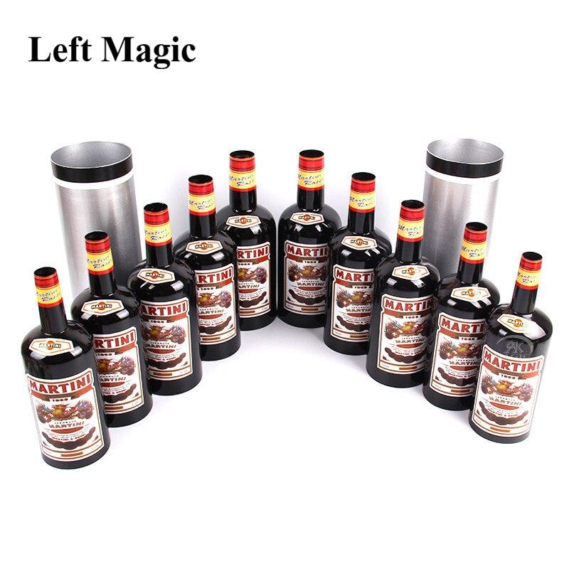 Multiplier les bouteilles 10 bouteilles noir (liquide versé) tour de magie étape accessoires magiques gros plan mentalisme Illusion jouet classique H903