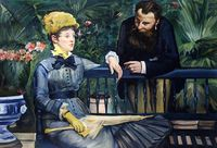 High Quality Edouard Manet Painting In the Conservatory Portrait Art Painting Reproductions Canvas Wall Pictures