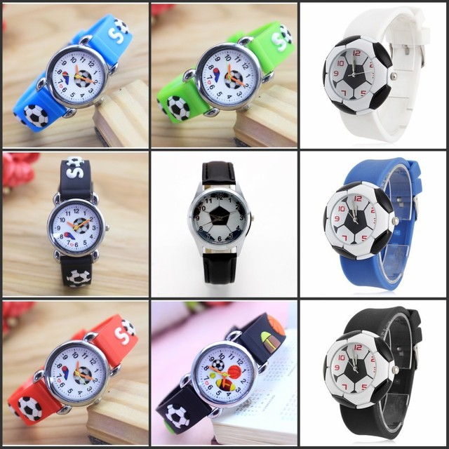 1pcs New Pretty Fashion Quartz Wristwatch 3D football Watches for kids best gift