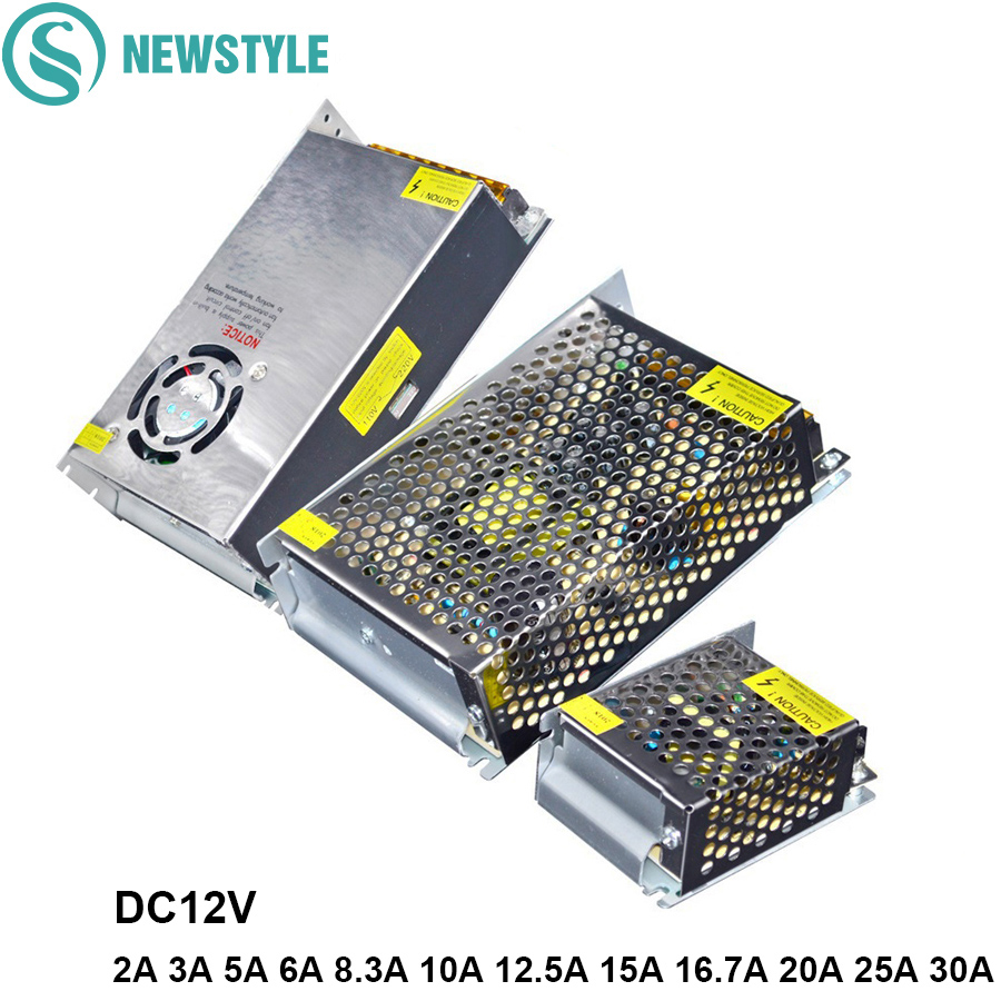 LED Power Supply 12V 2A 3A 5A 6A 8.3A 10A 12.5A 15A 16.7A 20A 25A 30A LED Driver Power Adpater Transformer For LED Strip Light 201w led switching power supply 85 265ac input 40a 16 5a 8 3a 4 2a for led strip light power suply 5v 12v output