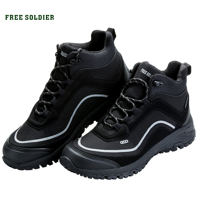 FREE SOLDIER на открытом воздухе спортивная тактическая военная обувь мужчины носят противоскользящие нескользящие для кемпинга Пешие прогулки