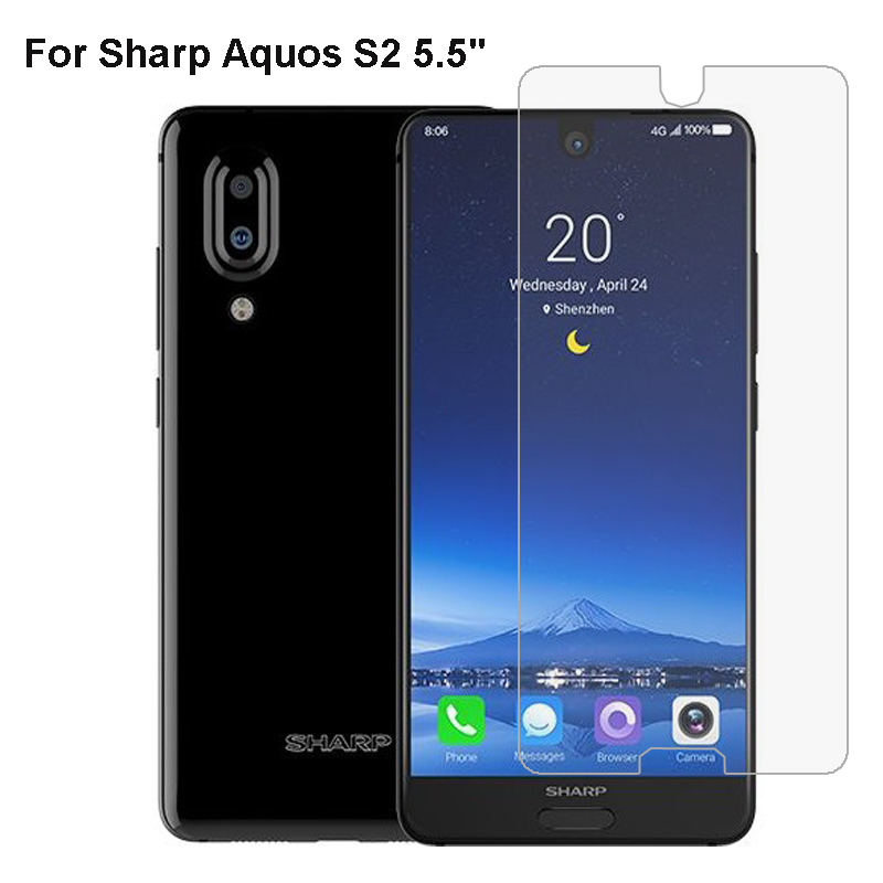 Tempered Glass For Sharp Aquos R2 S2 Protective Film For Sharp Aquos S3  Glass Transparent Screen Protector Phone Film