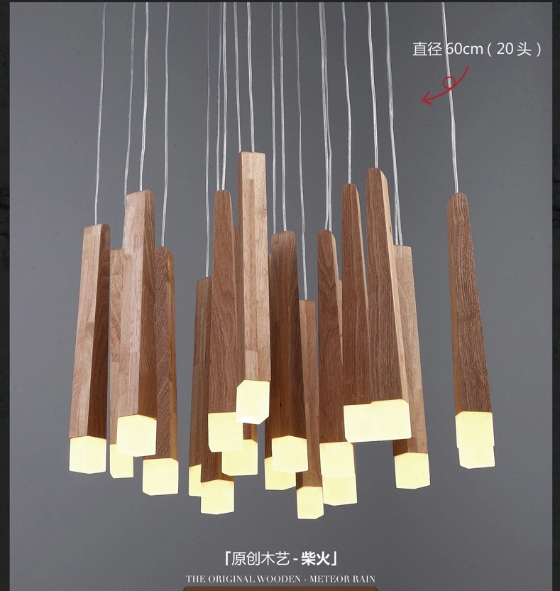 country lighting fixtures for home. American Country Style Pendant Lights Wood Lamps Led Warm Lighting Fixtures For Home Decorative House Garden Readingroom-in From