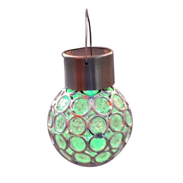 Solar Luxus Kristall beschichtet ball form hängelampe Außerhalb ...