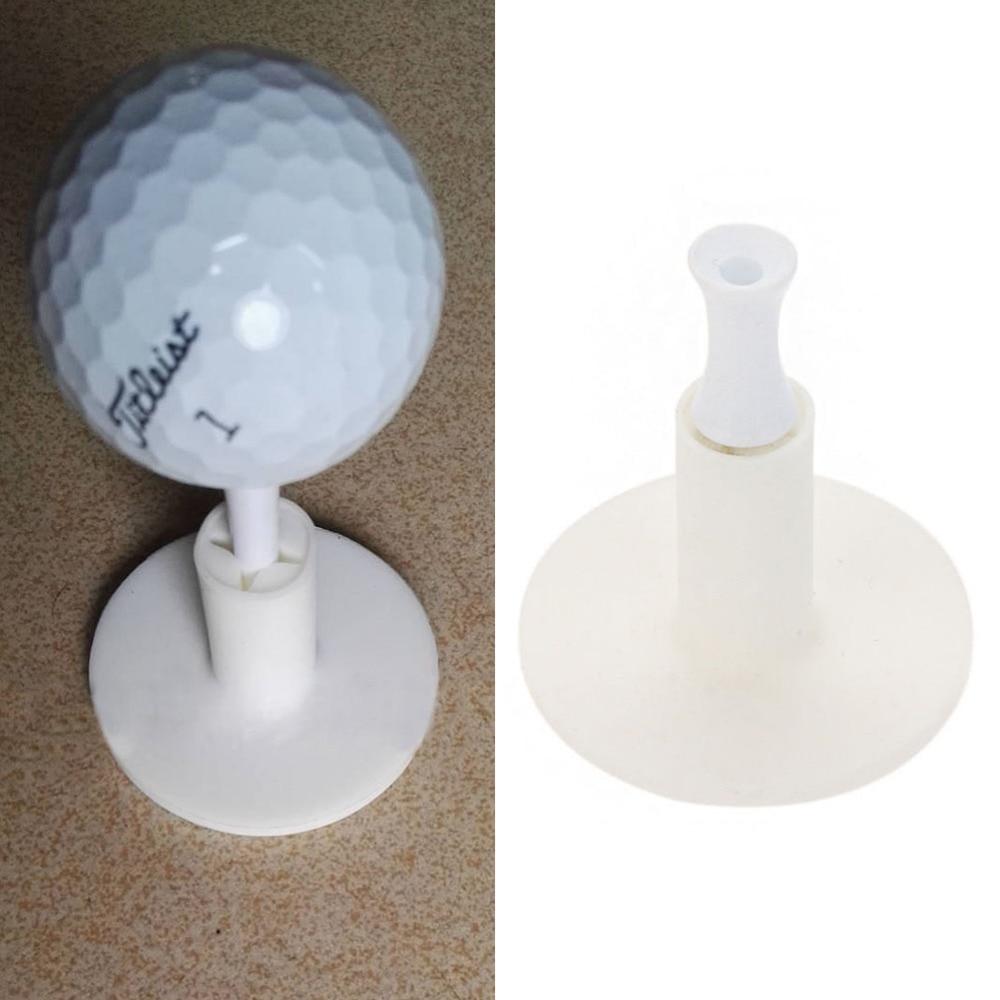 White Rubber Golf Tee Holder Golf Training Practice Tee Mat Golf Ball Hole Holder Beginner Trainer 1PC