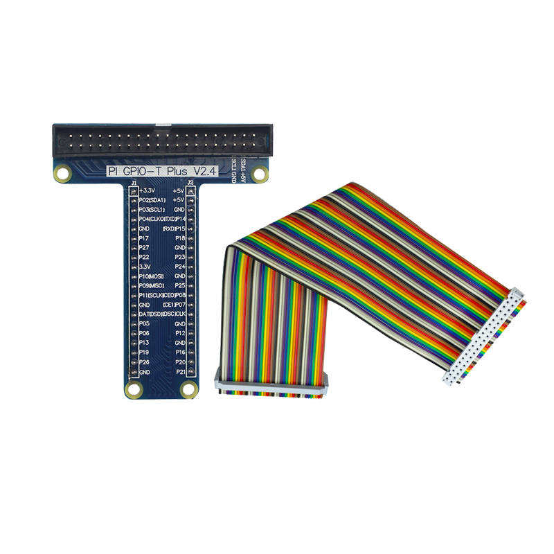 Raspberry Pi 3 Model B GPIO Board + 40Pin 20CM Row Female to Female GPIO Dupont Cable for Raspberry Pi 3 Model B+ pi cobbler plus kit breakout cable gpio 40pin cable for raspberry pi model b plus raspberry pi model b 20cm