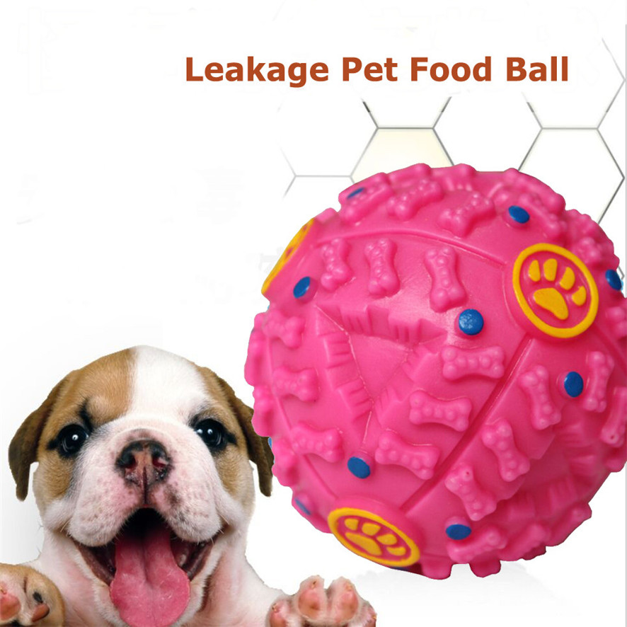 The LoveNest Store 2017 New Squeaky Giggle Quack Sound Training Dogs Ball Food Dispenser Durable Chew Toys  Purchasing  for your lovely dogs #0718