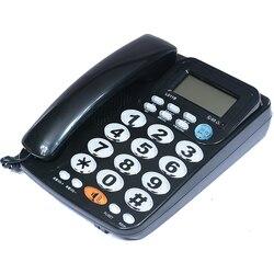 FSK/DTMF Идентификатор вызывающего абонента Handfree Corder телефон большая кнопка громко Мелодия Fixe стационарный домашний телефон без Батарея для п...