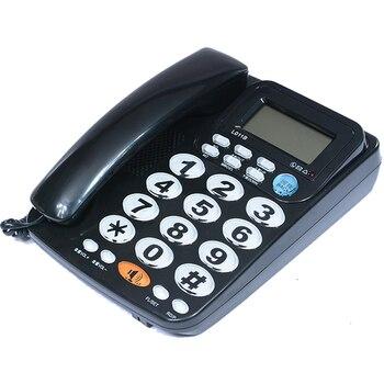 FSK/DTMF Caller ID Handfree Corder телефон большая кнопка громкий рингтон Fixe стационарный домашний телефон без аккумулятора для пожилых черный