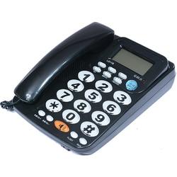 FSK/DTMF Caller ID Handfree Corder Telephone Big Button Loud Ringtone Fixe Landline Home Phone Without Battery For Elderly Black