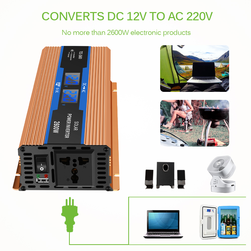 Image 4 - Car Inverter 2600 W DC 12 V To AC 220 V Power Inverter Charger 