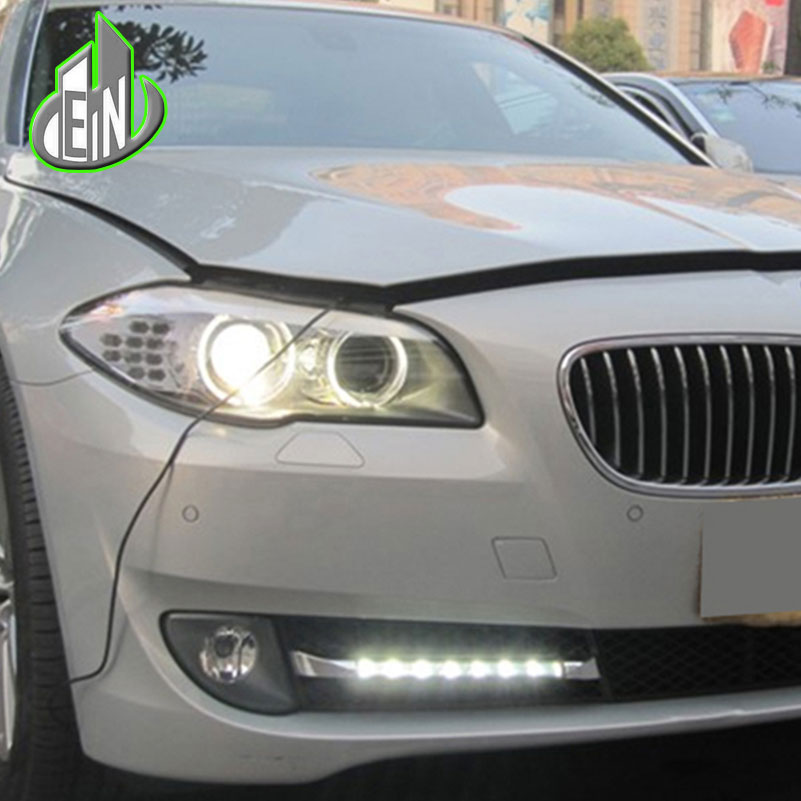 EN 2010-2013 For BMW F10 F18 5 series 520i 525i 530i 535i headlights Daytime Running Light fog lamp Relay Daylight car styling right side replacement car back rear reflector warn light for bmw 5 series 520 528 530 535 550 f10 f18 2010 2013 3102 r