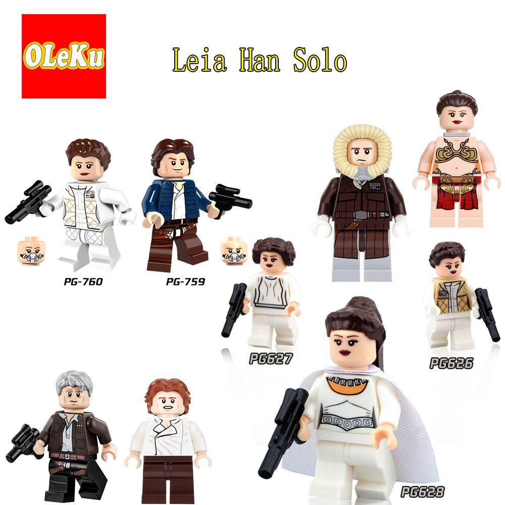 Leia Han Solo Legoing star wars 2017  R2D2 C3PO Darth Vader Chewbacca building blocks starwars Hot Sale figures
