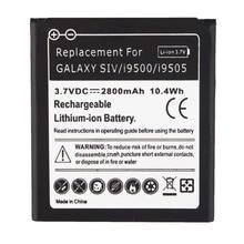 High Quality 2800mAh 3.7V Battery For Samsung S4 i9500 Phone Replacement Battery For Samsung Galaxy SIV S4 i9500