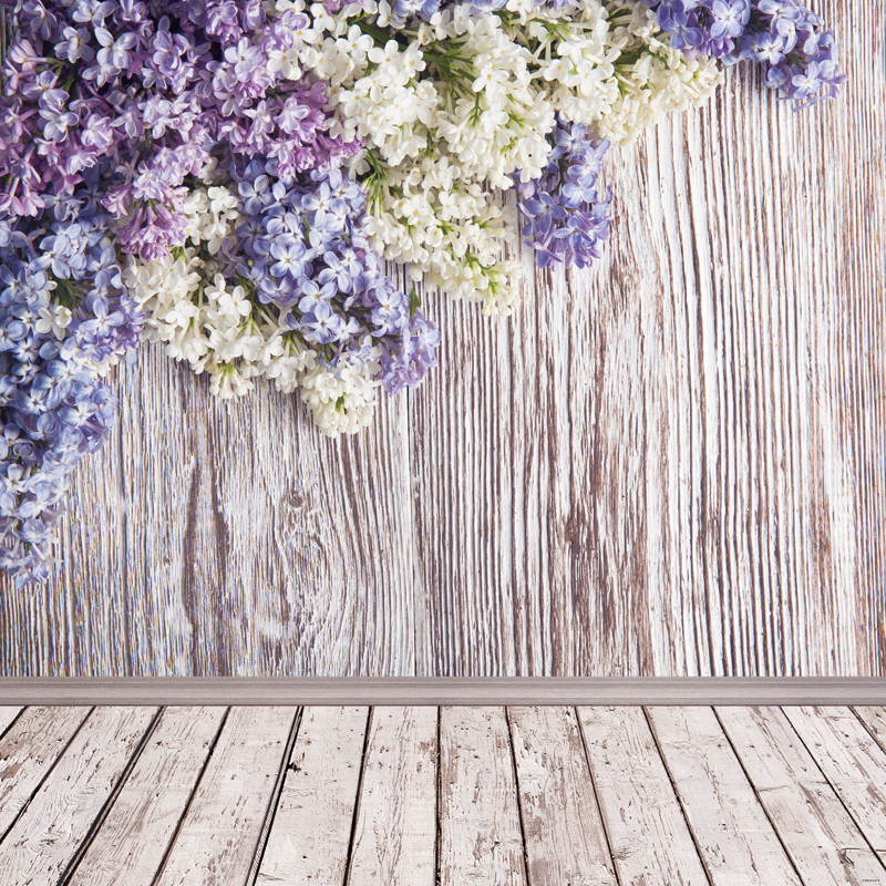 Thin Vinyl photography background Customize spring flowers Backdrop Digital Printing Background for photo Studio home decoration