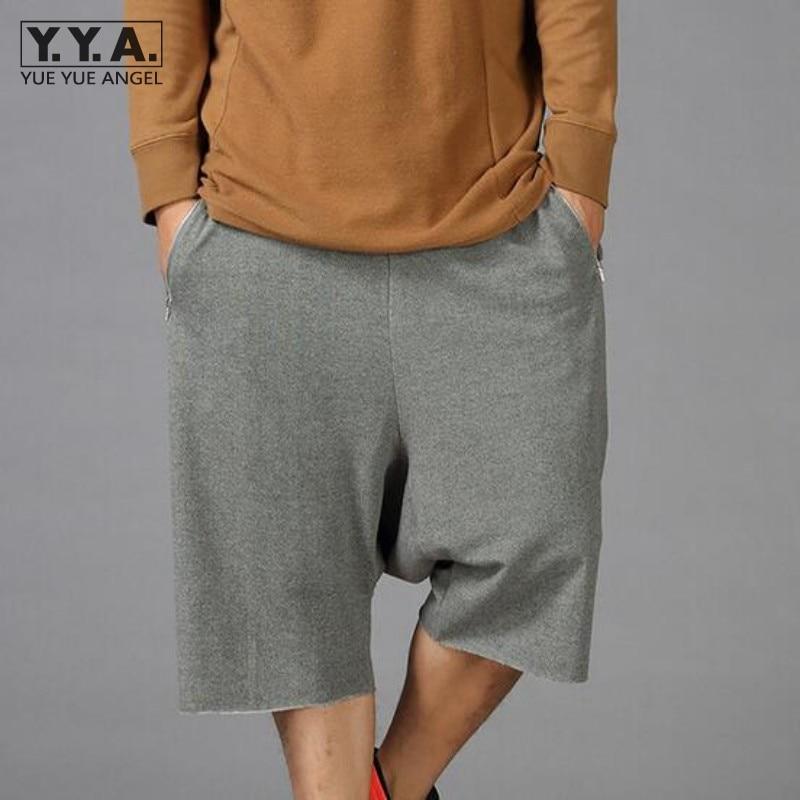 8f8d6beefdab Detail Feedback Questions about Mens 100% Cotton Short Sweatpants Casual Hip  Hop Baggy Loose Mens Drop Crotch Men Short Trousers Elastic Waist Male  Harem ...