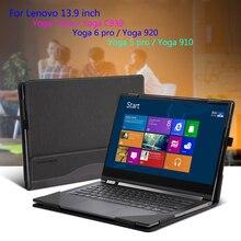 """Sprawa dla Lenovo 2018 YOGA C930 13.9 """"920 910 900 Laptop rękaw dla YOGA 7 Pro 13IKB 6 5 4 Pro PU skóra ochronna prezent"""