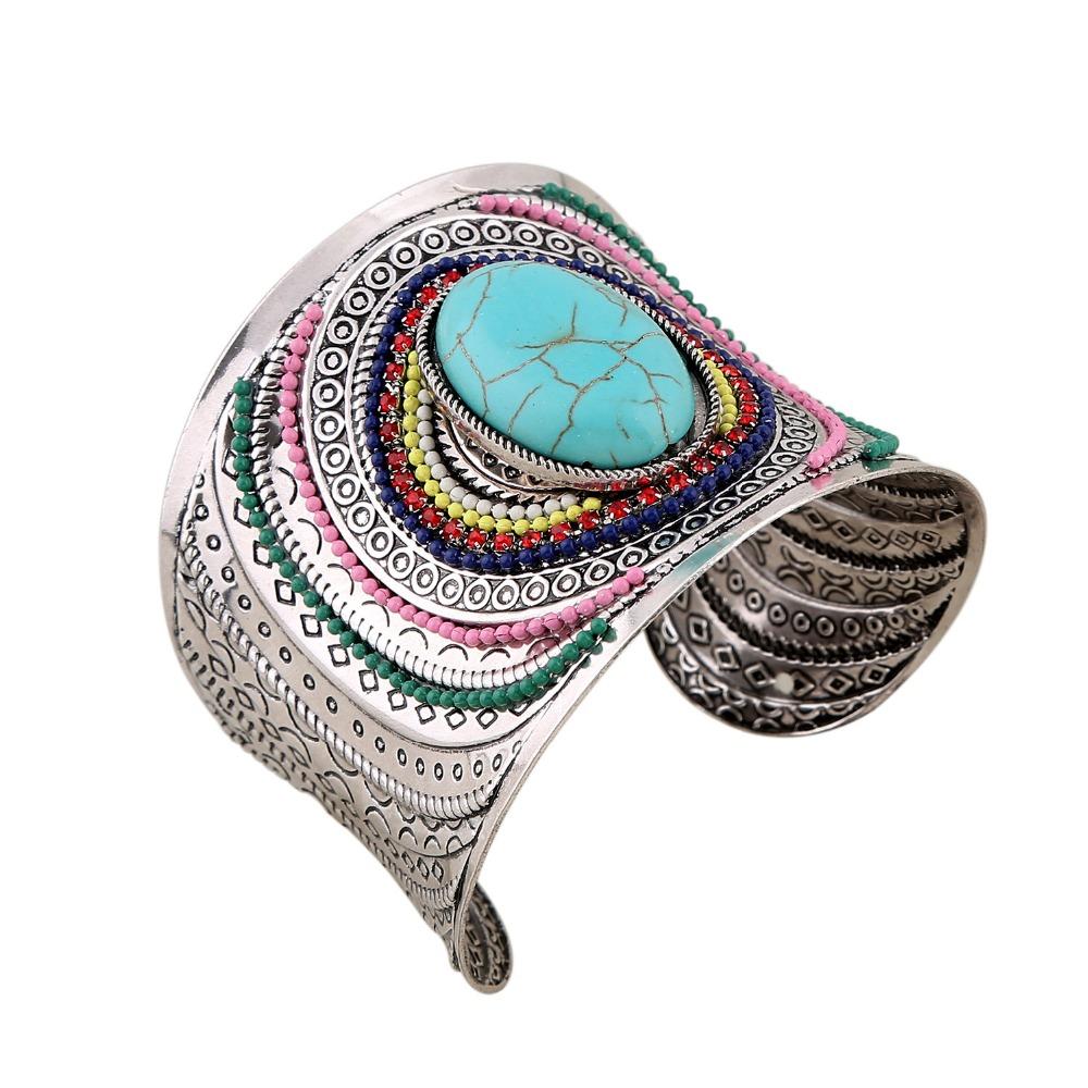 nuevo brazalete de oro perlas de ancho brazalete pulsera de nueva bohemia amplia cuff aleacin