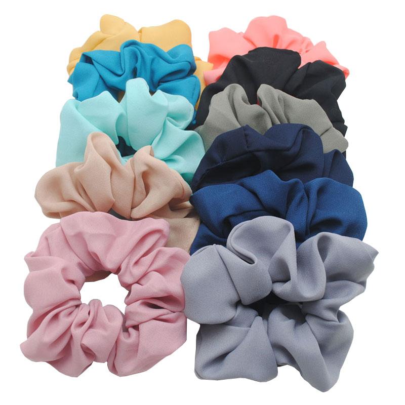 3 pièces Nouvelle Mousseline de Soie Femmes Cheveux Chouchous Gomme Molle Pour Cheveux Top Qualité Cheveux Cravate Filles Queue de Cheval Porteurs Cheveux Accessoires
