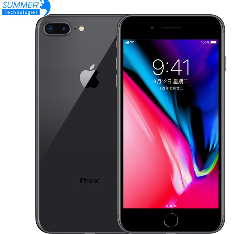 Téléphone portable Original débloqué Apple iPhone 8 Plus LTE 3GB RAM Hexa Core 12.0MP 5.5 empreinte digitale iOS Smartphone utilisé
