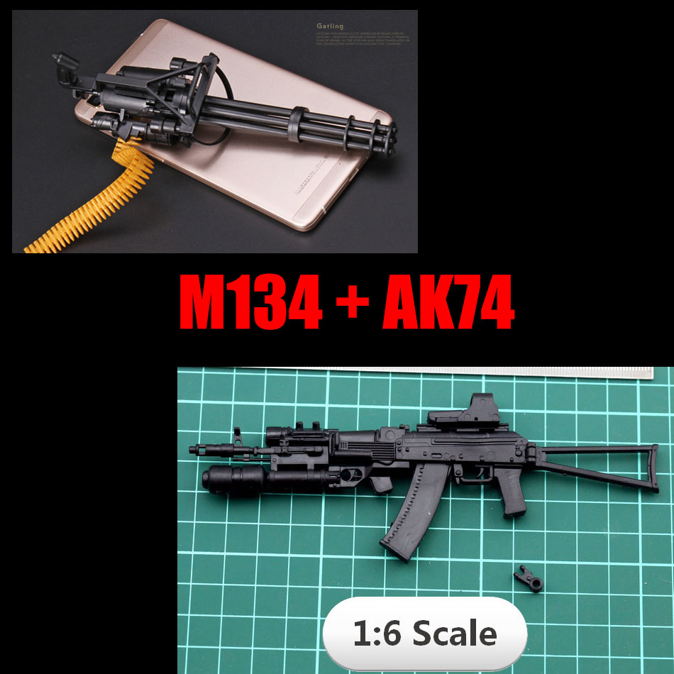 2017 New  1:6 1/6 12 inch Action Figures Weapon M134+AK-74 2Pcs/set birthday gift ld7530pl ld7530 sot23 6
