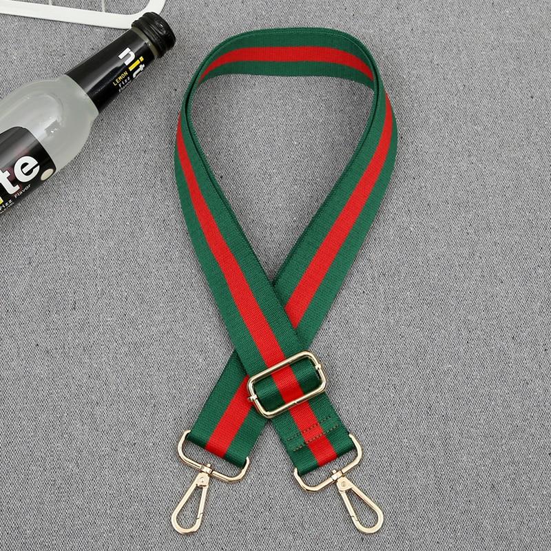 70-140cm Stripe Crossbody Handbag Detachable Replacement Shoulder Strap Webbing Gold Lobster Bag Belts Accessories