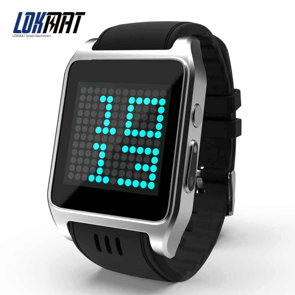 LOKMAT Sport Smart-Watch Phone Android 4.4 DualCore MTK6572 with Camera Bluetooth 3G Gps Wifi Clock Men Smart watch For iphone espanson smart watch 3g android 5 1 wifi gps bluetooth heart rate sport wristwatch phone dial call camera clock fitness tracker