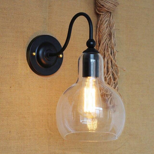 Loft Vintage Mur Lampes Moderne Mur Applique Salle De Bains Bar Café  Lumière Rétro Industrielle Fer