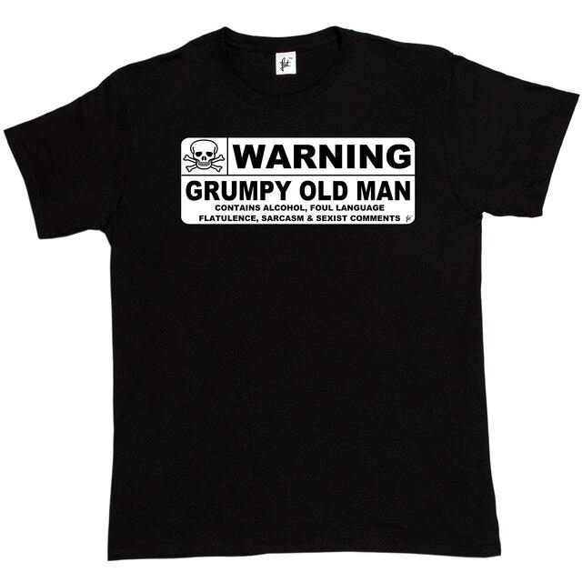 Waarschuwing Grumpy Oude Man Voorzichtigheid Teken Vaders Dag Kerst