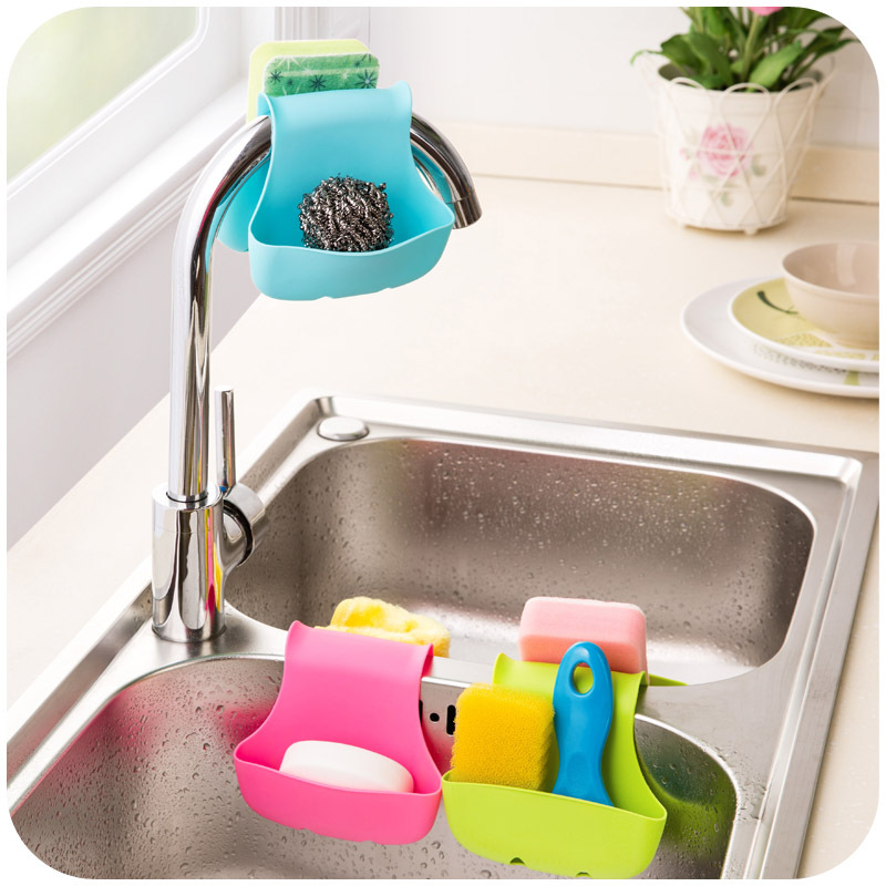 Creative Adjustable font b Storage b font Holder New Desighned Portable Kitchen Sink Hanging Strainer Organizer