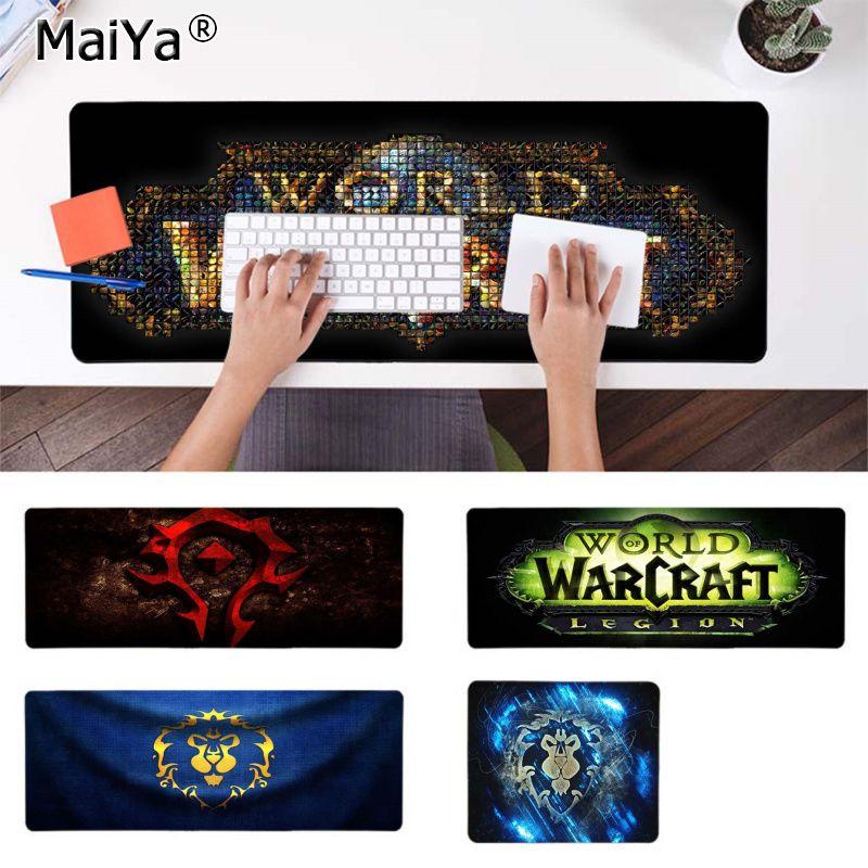 Maiya Beautiful Anime World Of Warcraft Legion Unique Desktop Pad Game Mousepad Rubber PC Computer Gaming Mousepad