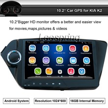 10.2″ Car Big Screen Radio Player Stereo Apply to KIA K2 Built-in GPS Navigation Bluetooth support WIFI Smartphone Mirror-link